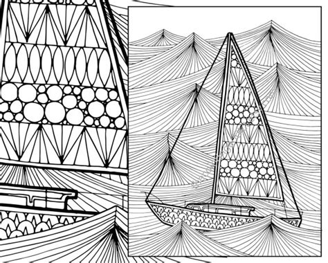 coloring pages for adults boats ocean wave adult coloring page sailboat adult coloring sheet