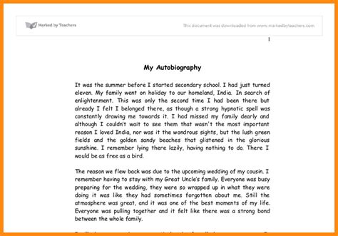 simple biography format 8 simple autobiography exle model resumed