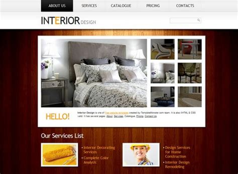 40 Great Free Portfolio Designs Css Html Interior Design Portfolio Template
