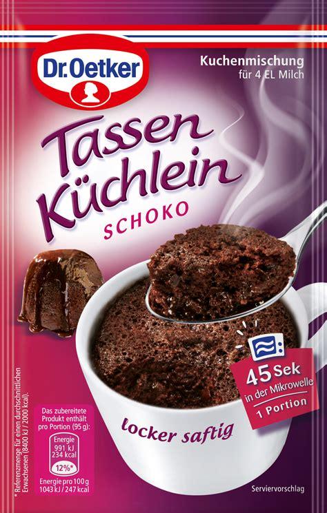 kuchen in der tasse backen dr oetker tassen k 252 chlein schoko kuchenmischung 55g