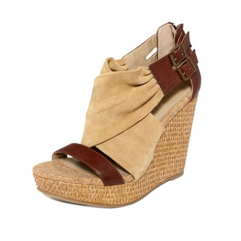 kenneth cole reaction wedge sandals kenneth cole reaction live wedge sandals in brown
