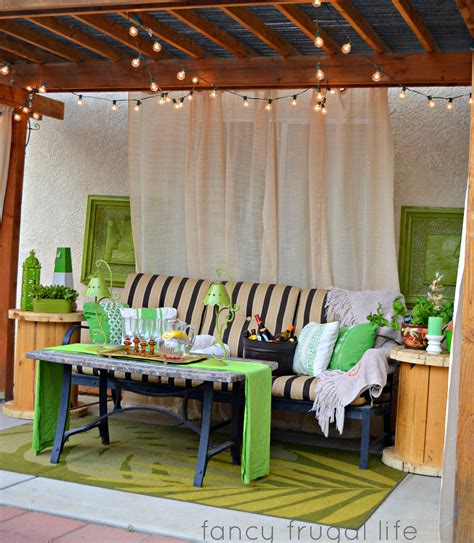 drop curtains patio cabana patio makeover with diy drop cloth curtains