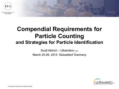 Requirements For Tester by Compendial Requirements For Particle Testing 2014