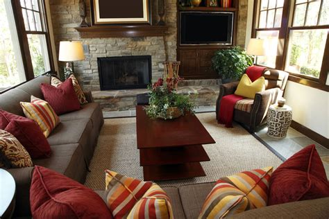 cozy brown leather sofa for yellow living room design 53 cozy small living room interior designs