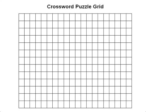 puzzle blank template blank crossword template crossword template free
