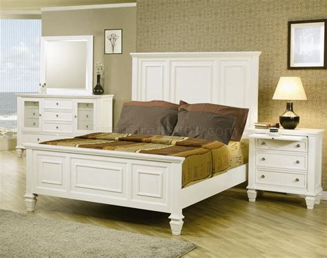 sandy beach bedroom set white sandy beach bedroom 5pc set 201301 in white w options