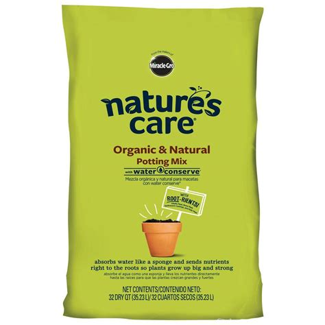 miracle gro nature s care 32 qt organic potting mix