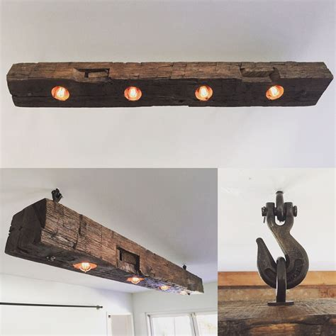 rustic beam light fixture just finished this barn beam light fixture beams barn