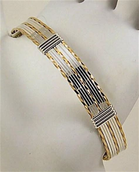 you to see silver gold wire wrapped cuff bracelet on