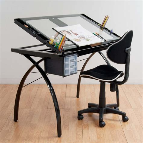 Futura Drafting Table Fancy Futura Drafting Table With Glass Top