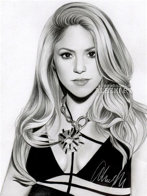 shakira drawing shakira by aleexart on deviantart