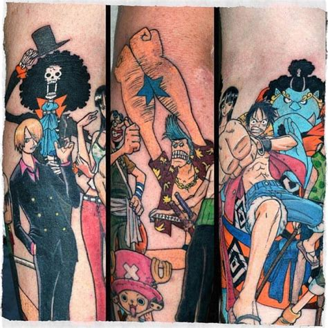 one piece merry tattoo 35 awesome one piece tattoos for the straw hat pirates