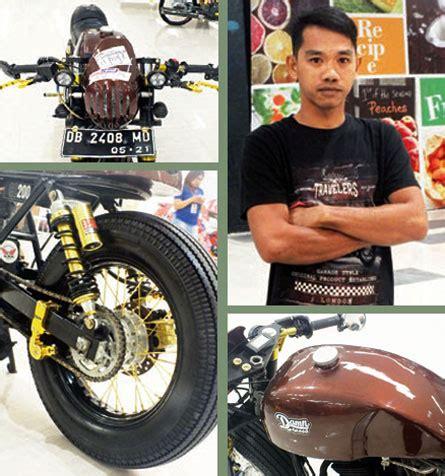 Tromol Becak Dpn Blk Sama Disc Dpn Blk Vixion New honda gl max 00 manado bobber caf 201 racer