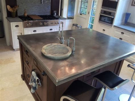 Cost Of Zinc Countertops by How To Choose A Metal Countertop For Your Kitchen