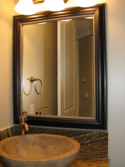 bathroom mirror frame kit easy install bathroom update
