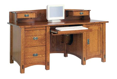Real Wood Computer Desk Amish Solid Wood Computer Desks Made In America