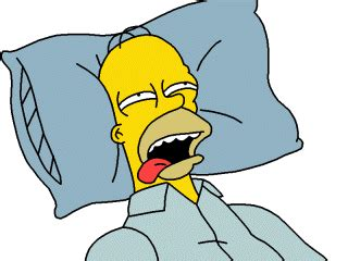 acting lethargic homer in the house