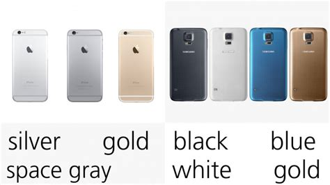 iphone 6 color choices iphone 6 vs galaxy s5 images