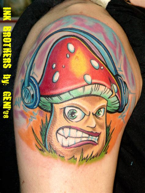 mushroom tattoo images designs