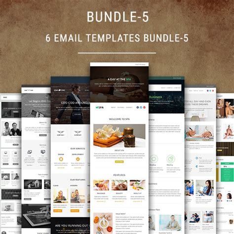 Mymail Newsletter Templates by 6 Email Templates Bundle 5 Pennyblack Templates