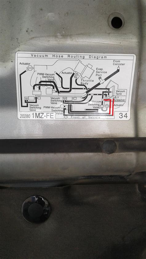 vacuum hose routing camry forums toyota camry forum