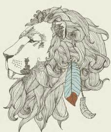 indian lion tattoo design feather indian lion tattoo image 430298 on favim com