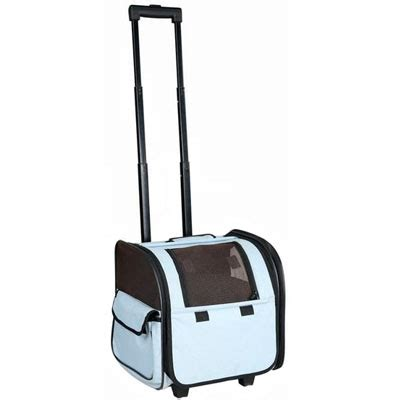 rolling carrier wheeled airline approved cat carrier in blue hemingway s cat boutique
