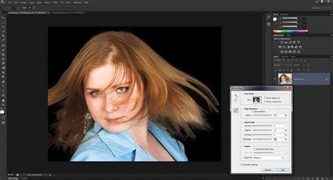 photoshop cs3 refine edge tutorial how to smooth out selections around hair in photoshop