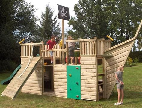 backyard play houses pirate ship play house design adding fun to kids backyard