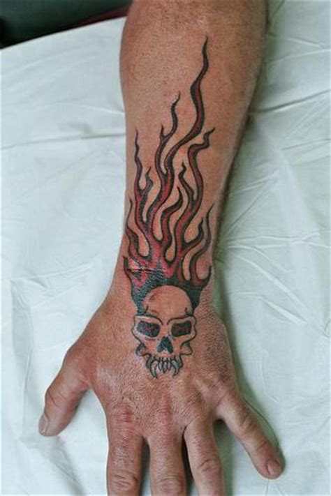 flame tattoos scary flames