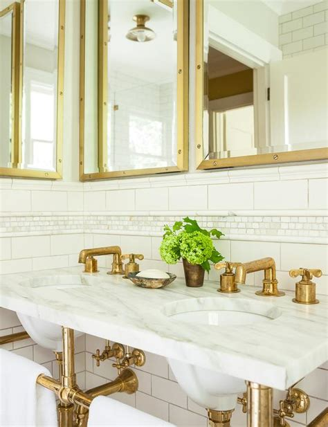 aged brass cabinet hardware marble and brass washstand with shelf and gray
