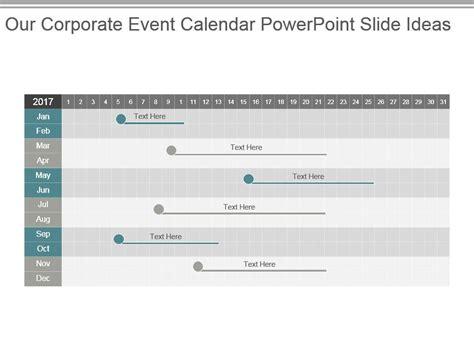 corporate event calendar powerpoint ideas