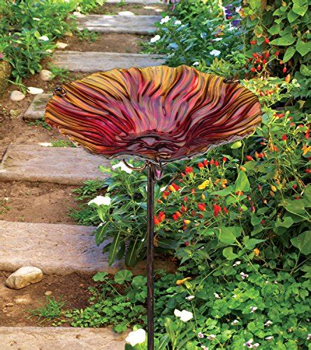 regal home decor regal art gift birdbath feeder with stake red home