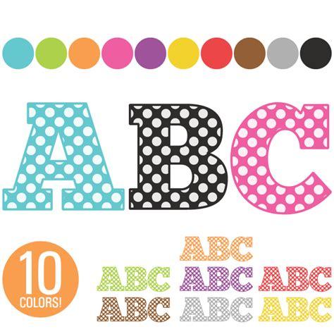 free printable alphabet letters clip art clip art alphabet 260 polka dot letters