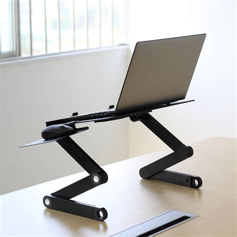 adjustable vented laptop table laptop computer desk portable bed tray stand ebay