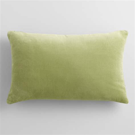green velvet lumbar pillow world market