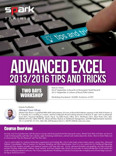 september 2016 tips and trick here advanced excel 2013 2016 tips and tricks by spark training