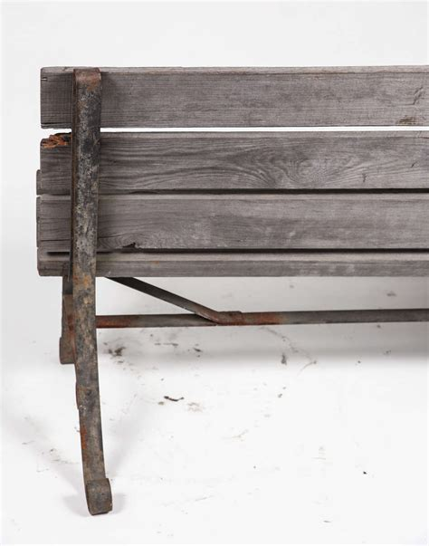 wrought iron park bench old wrought iron two seater park bench at 1stdibs