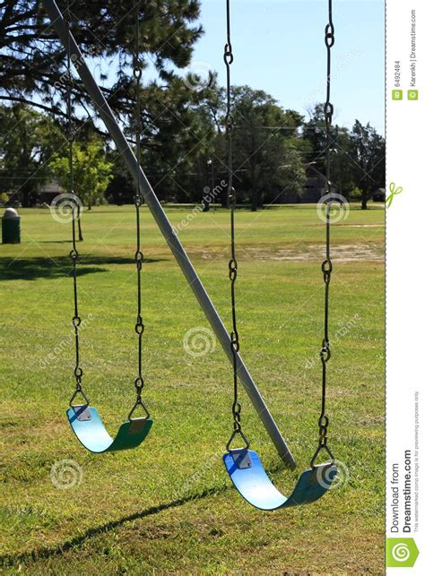 swing com two blue swings stock images image 6492484