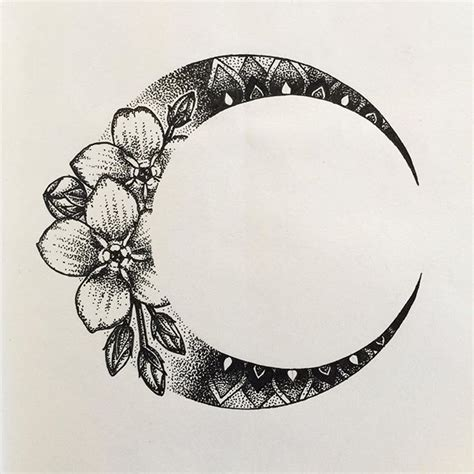 moon flower tattoo design 10 best ideas about moon tattoos on moon tatto