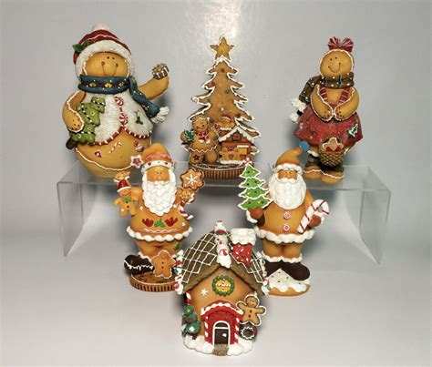 home decoration resin christmas gingerbread collection