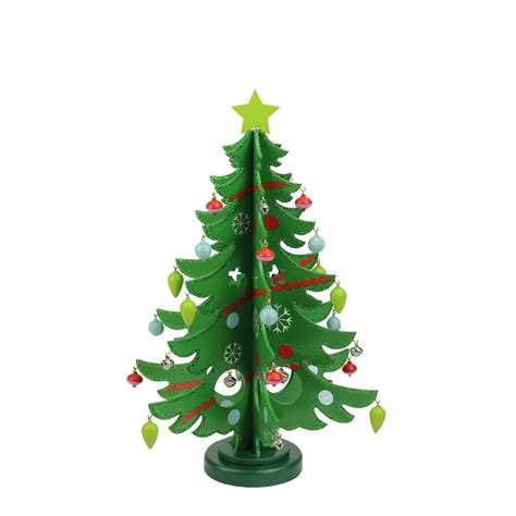 decorative wooden christmas tree cut  table