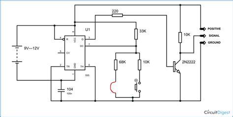 rc servo motor circuit servo motor tester circuit diagram using ic 555