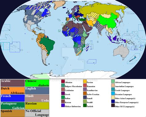 how many countries as an official language official languages by country by iori komei on deviantart