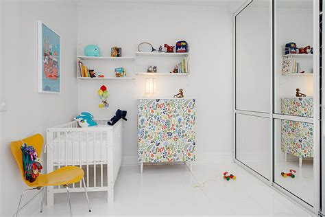 White Nursery L by L Apartment With Terrrace White Canvas With Bright