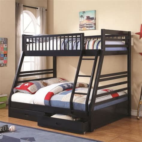 coaster furniture ashton twinfull bunk bed  series   finishes gray navy blue