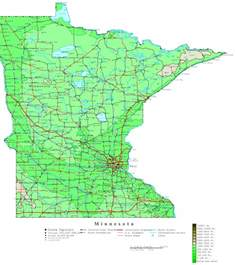 us map minnesota minnesota contour map