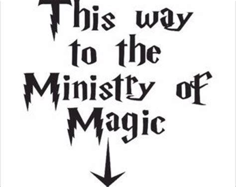 This Way To The Ministry Of Magic Printable