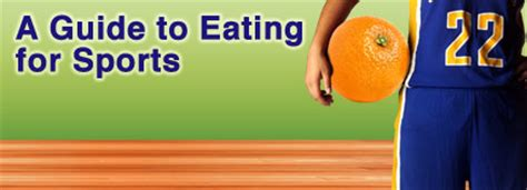 A Guide To Eating For Sports