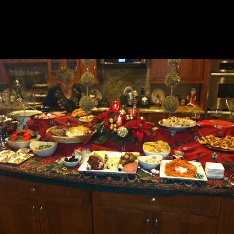 christmas appetizer buffet parties pinterest